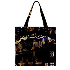 Christmas Advent Candle Arches Zipper Grocery Tote Bag