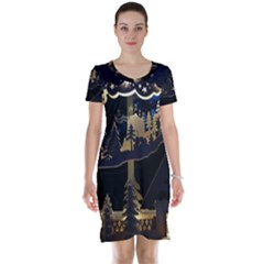 Christmas Advent Candle Arches Short Sleeve Nightdress
