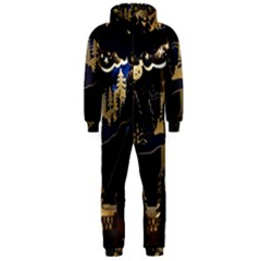 Christmas Advent Candle Arches Hooded Jumpsuit (Men)
