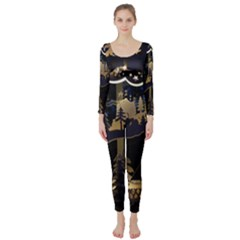 Christmas Advent Candle Arches Long Sleeve Catsuit