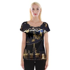 Christmas Advent Candle Arches Women s Cap Sleeve Top
