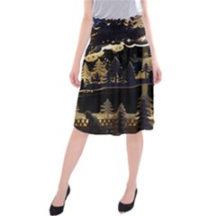 Christmas Advent Candle Arches Midi Beach Skirt