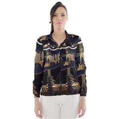 Christmas Advent Candle Arches Wind Breaker (women)
