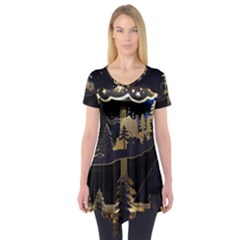 Christmas Advent Candle Arches Short Sleeve Tunic