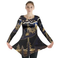 Christmas Advent Candle Arches Long Sleeve Tunic