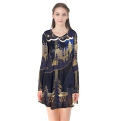 Christmas Advent Candle Arches Flare Dress