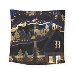 Christmas Advent Candle Arches Square Tapestry (small)