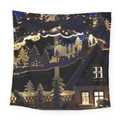 Christmas Advent Candle Arches Square Tapestry (large)