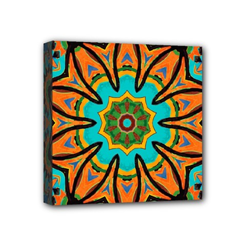 Color Abstract Pattern Structure Mini Canvas 4  X 4
