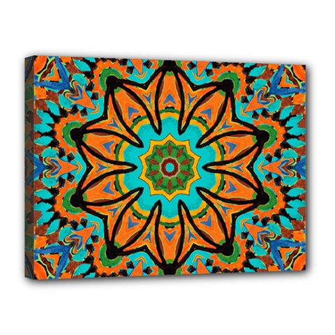 Color Abstract Pattern Structure Canvas 16  X 12