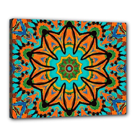 Color Abstract Pattern Structure Canvas 20  X 16