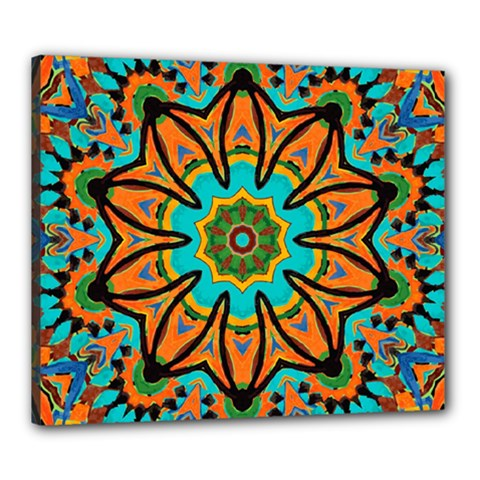 Color Abstract Pattern Structure Canvas 24  x 20
