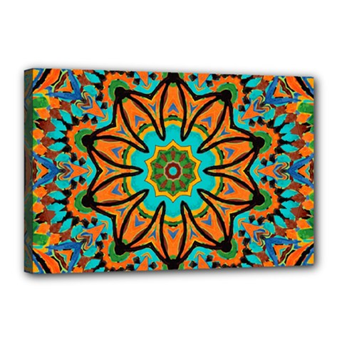 Color Abstract Pattern Structure Canvas 18  X 12