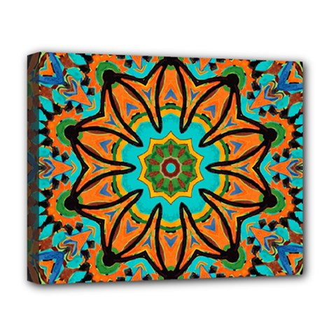 Color Abstract Pattern Structure Deluxe Canvas 20  X 16