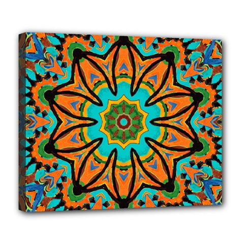 Color Abstract Pattern Structure Deluxe Canvas 24  X 20