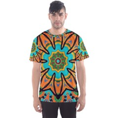 Color Abstract Pattern Structure Men s Sport Mesh Tee