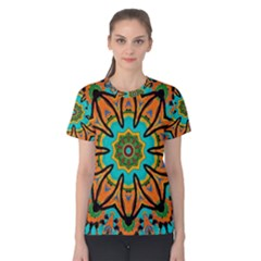 Color Abstract Pattern Structure Women s Cotton Tee