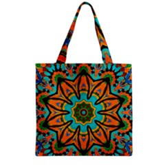 Color Abstract Pattern Structure Grocery Tote Bag