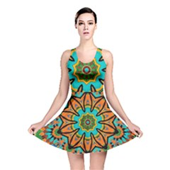 Color Abstract Pattern Structure Reversible Skater Dress