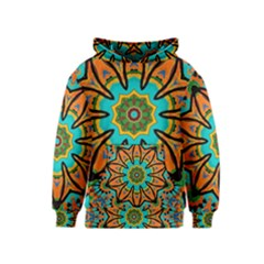 Color Abstract Pattern Structure Kids  Pullover Hoodie