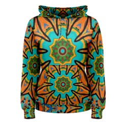 Color Abstract Pattern Structure Women s Pullover Hoodie