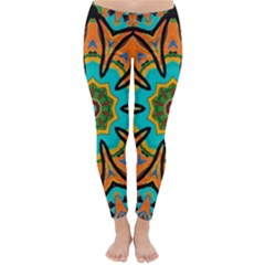 Color Abstract Pattern Structure Classic Winter Leggings