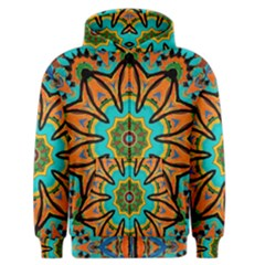Color Abstract Pattern Structure Men s Zipper Hoodie