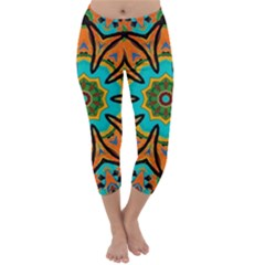 Color Abstract Pattern Structure Capri Winter Leggings