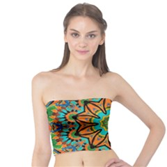 Color Abstract Pattern Structure Tube Top