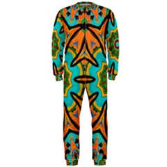 Color Abstract Pattern Structure OnePiece Jumpsuit (Men)