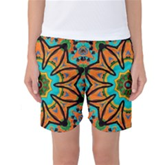 Color Abstract Pattern Structure Women s Basketball Shorts