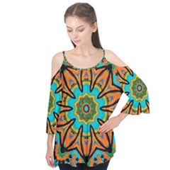 Color Abstract Pattern Structure Flutter Tees
