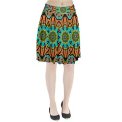 Color Abstract Pattern Structure Pleated Skirt