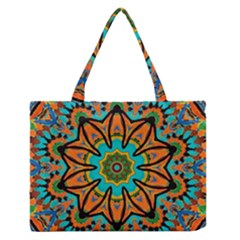 Color Abstract Pattern Structure Medium Zipper Tote Bag