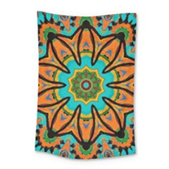 Color Abstract Pattern Structure Small Tapestry