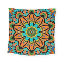 Color Abstract Pattern Structure Square Tapestry (small)