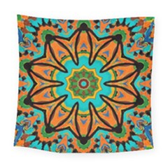 Color Abstract Pattern Structure Square Tapestry (large)