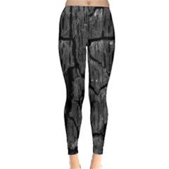 Coal Charred Tree Pore Black Leggings