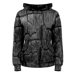 Coal Charred Tree Pore Black Women s Pullover Hoodie