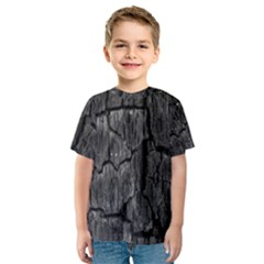 Coal Charred Tree Pore Black Kids  Sport Mesh Tee