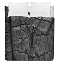 Coal Charred Tree Pore Black Duvet Cover Double Side (queen Size)