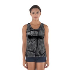 Coal Charred Tree Pore Black Women s Sport Tank Top