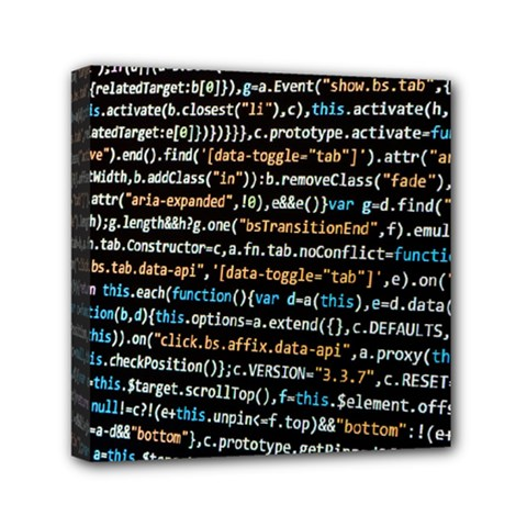 Close Up Code Coding Computer Mini Canvas 6  X 6
