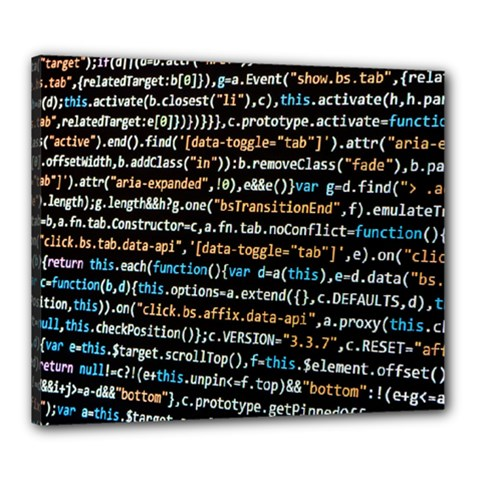 Close Up Code Coding Computer Canvas 24  X 20