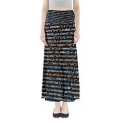 Close Up Code Coding Computer Maxi Skirts