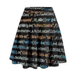 Close Up Code Coding Computer High Waist Skirt