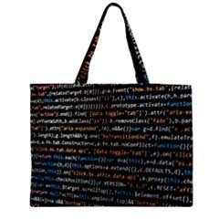 Close Up Code Coding Computer Medium Zipper Tote Bag