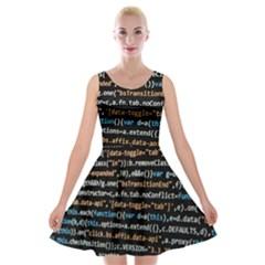 Close Up Code Coding Computer Velvet Skater Dress