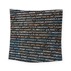 Close Up Code Coding Computer Square Tapestry (small)