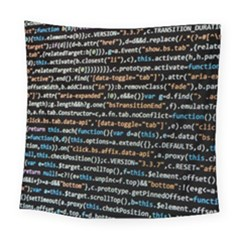 Close Up Code Coding Computer Square Tapestry (large)